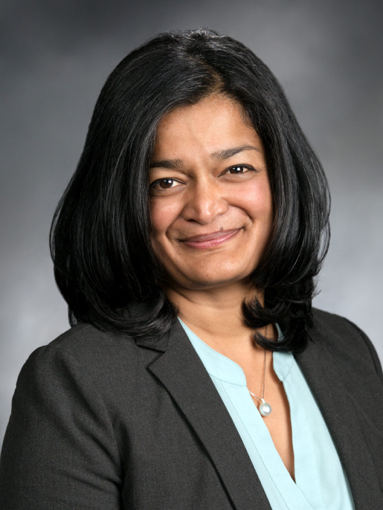 Washington State Senator Pamila Jayapal, 37th District, Seattle.
