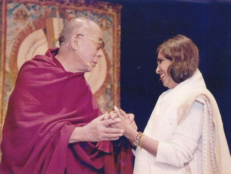 Urmi Basu with the Dalai Lama