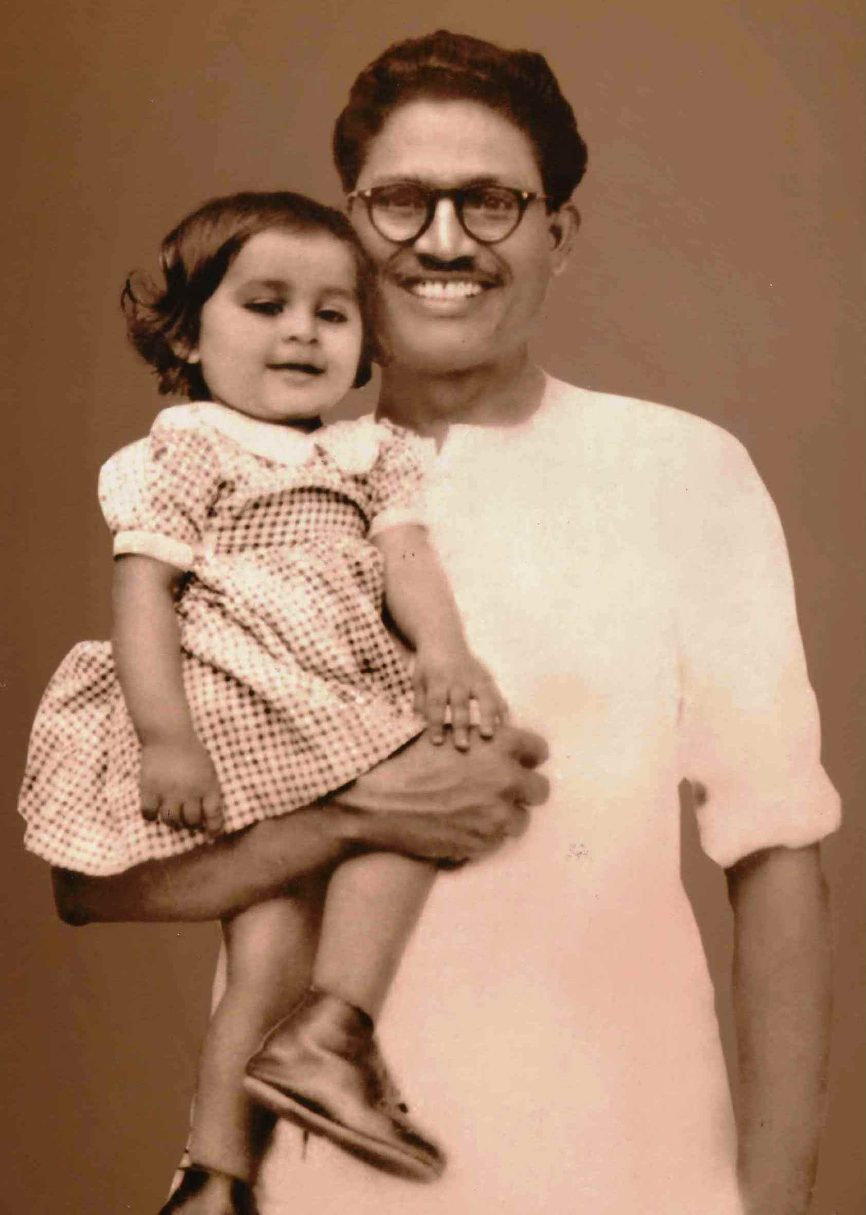 Urmi Basu as a child