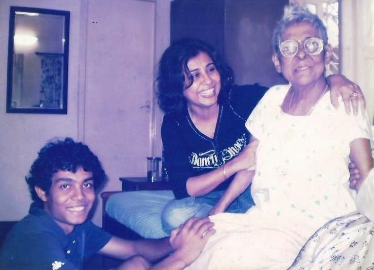 Urmi Basu with son and mother