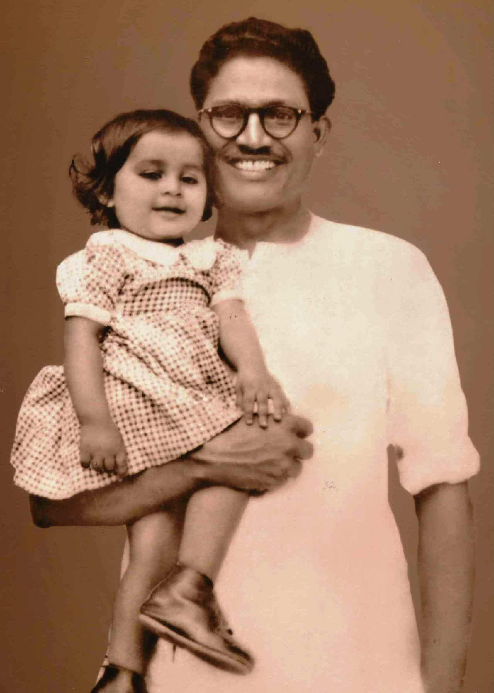 Urmi Basu as a child