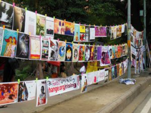 200 posters for the Fearless Campaign at One Billion Rising in Delhi