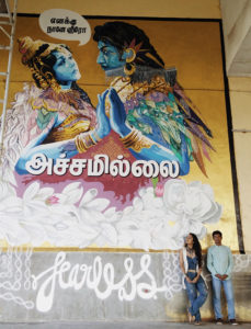 Fearless Collective Street Art 'I Am My Own Hero' Chennai