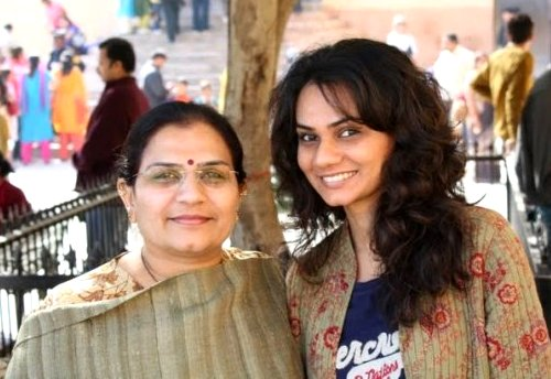 Tanvi with her mother