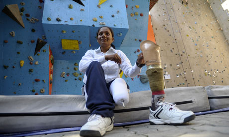 Indian mountaineer Arunima Sinha, first female amputee to summit Everest